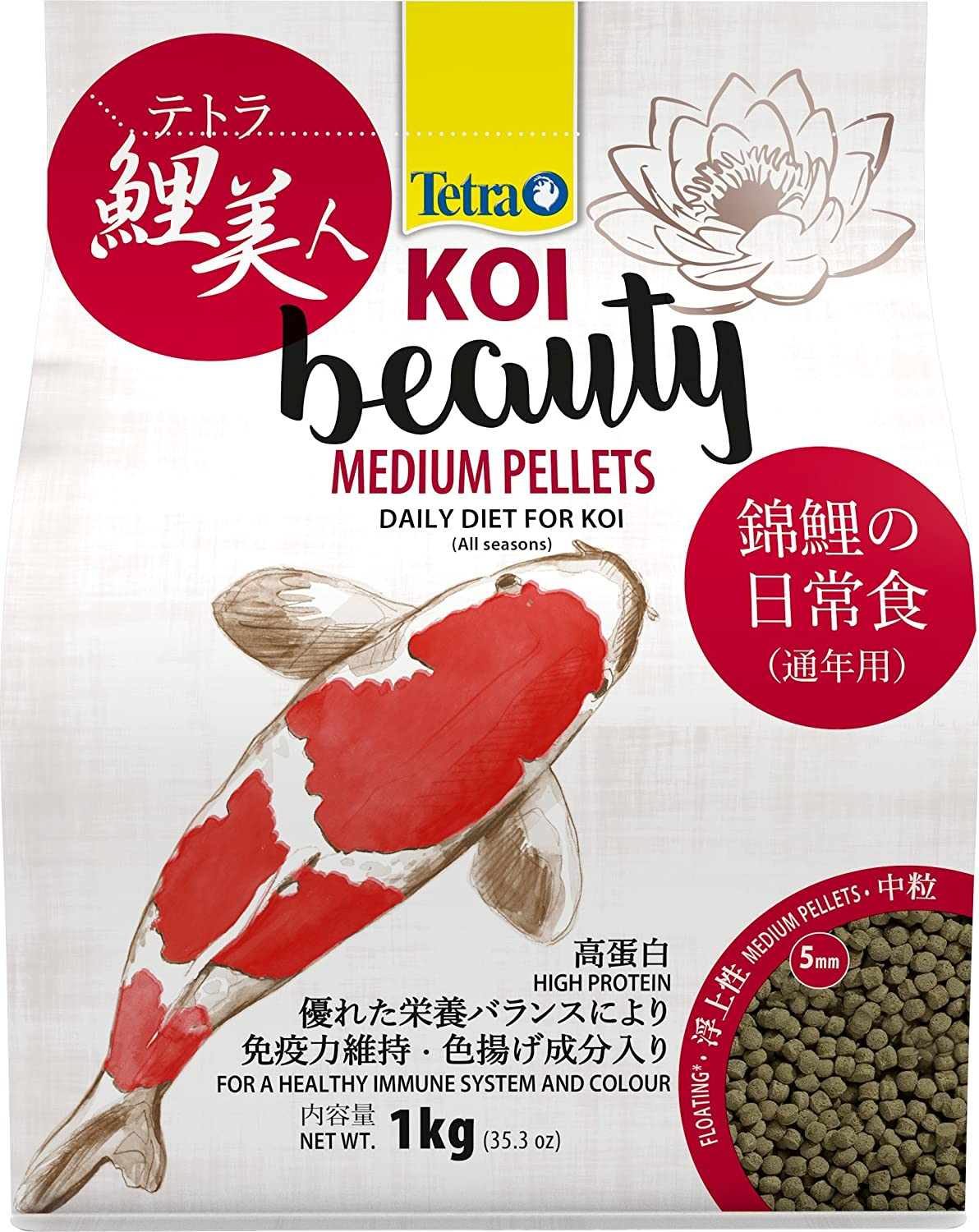Tetra Koi Beauty Pellets for Small Fish, 10 Litre Spectrum Brands 4004218263314