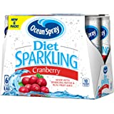 Ocean Spray Diet Sparkling Cranberry Juice, 8.4 Ounce Can (Pack of 24)