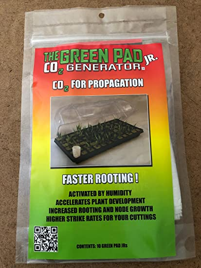The Green Pad Jr  Co2 Generator Hydroponic Co2 Sheets Indoor Maximizer - 10  pack