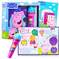 Peppa Pig Activity Books Bundle ~ Peppa Pig Microphone Toy for Kids with Activity Book Songbook and Peppa Pig Stickers…