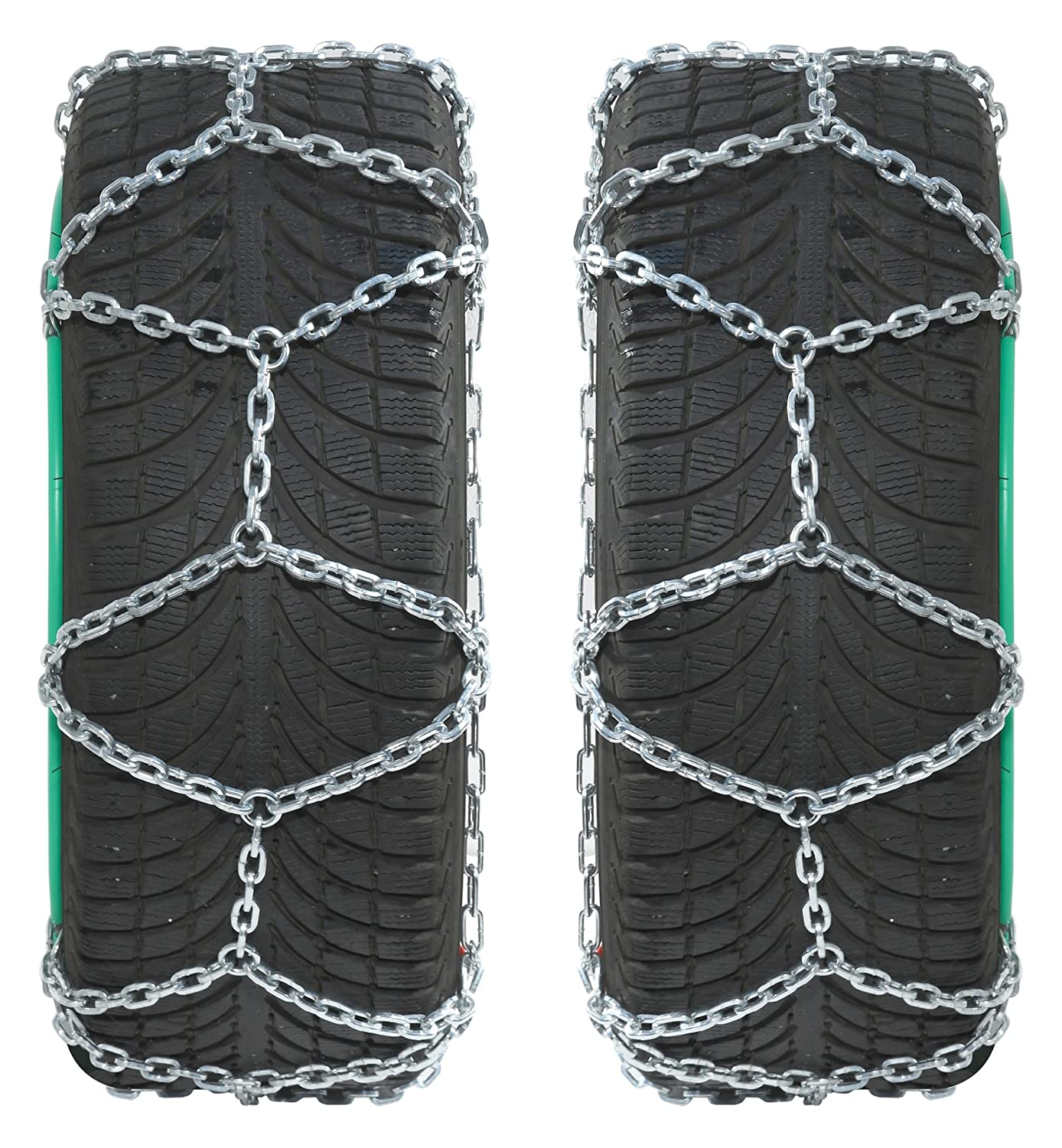 1 Pair 245 Extra strong 16x27mm T/ÜV-approved Compass SUV-Van Snow Chains for 235//65 R16 Tyres