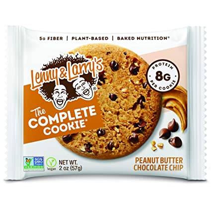 Amazon Com Lenny Larry S The Complete Cookie Peanut Butter Chocolate Chip 2 Ounce Cookies 12 Count Soft Baked Vegan And Non Gmo Protein Cookies Grocery Gourmet Food