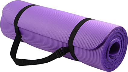 Amazon Com Balancefrom Goyoga All Purpose 1 2 Inch Extra Thick High Density Anti Tear Exercise Yoga Mat With Carrying Strap Sports Outdoors