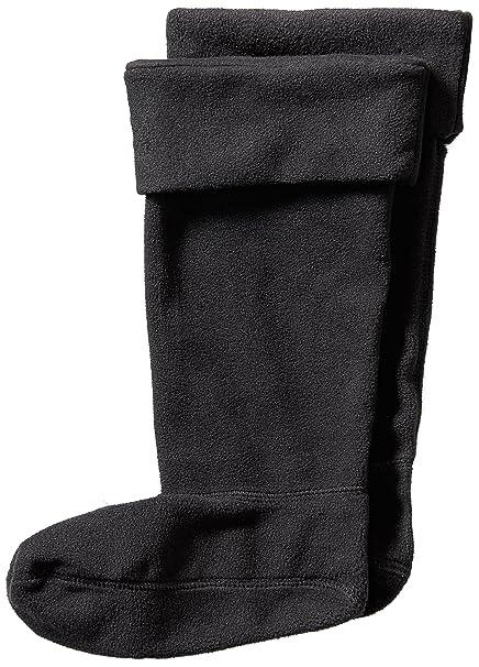 Jileon Women and Men Warm Cozy  Soft Winter Black Fleece Rainboots  LinersSmall