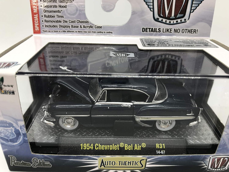 M2 Machines Auto-Thentics 1954 Chevrolet Bel Air 1:64 Scale R31 14-67 Dark Blue Details Like NO Other!