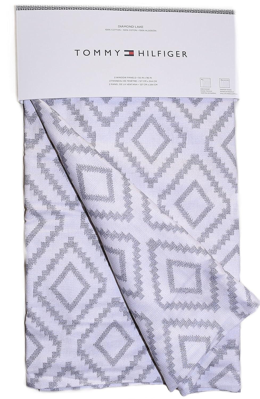 Brand-new Amazon.com: Tommy Hilfiger Diamond Lake Pair of Curtains 2 window  MZ64