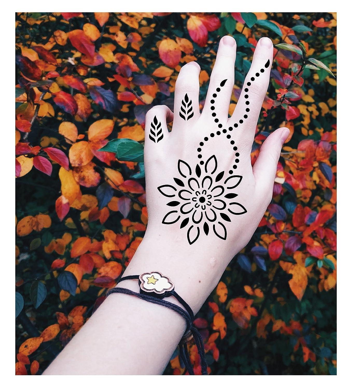 henna tattoo schablone vorlage 10 sheet minna amazonde beauty - Henna Muster Fur Anfanger