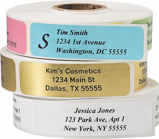 80 Personalized Printed Peel /& Stick Colorful Chalkboard Return Address Labels