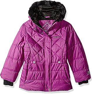 54883ae12a7b Amazon.com  Pistachio Girls Pink Leopard Print Winter Coat Fur Trim ...
