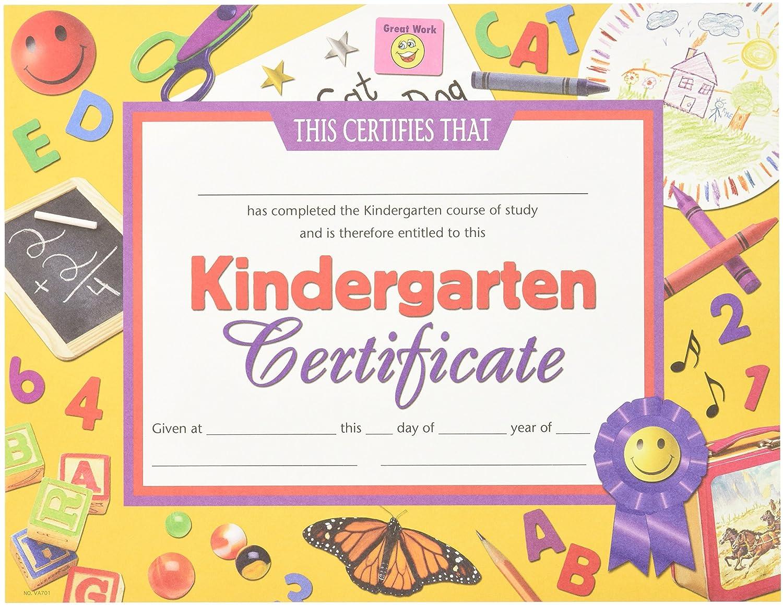 Amazon Hayes School Publishing Va701 Kindergarten Certificate
