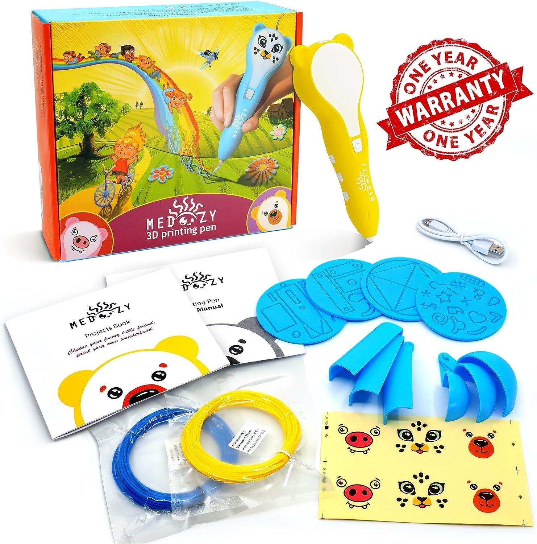 MeDoozy Penna Stampa 3D Giallo Forniture artistiche Ideali per Bambini Regali Forti Compleanno per Ragazzi//e Giochi Fai da Te Arte /& Creazioni Giocattoli creativi per Bimbi e Adolescenti