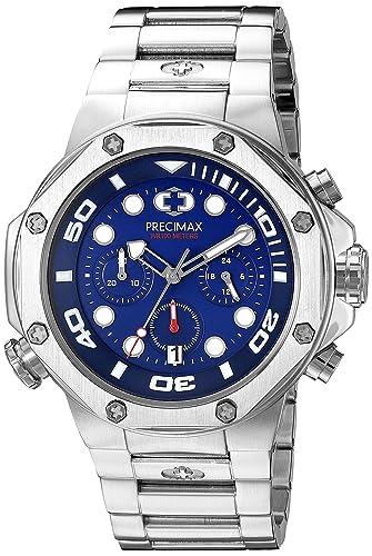 Precimax PX14001 - Reloj de pulsera hombre, color Plata: Precimax: Amazon.es: Relojes