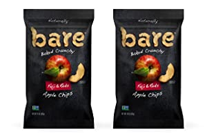 Bare Natural Apple Chips, Fuji & Reds, Gluten Free + Baked, Family Size Bag - 14 Oz (2 Count)