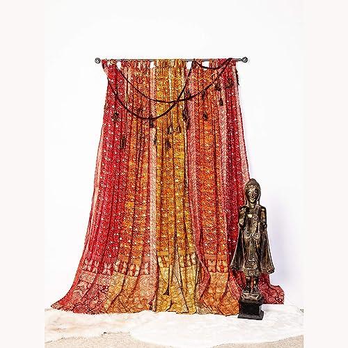 Editors' Choice: Light-Filtering Sari Colorful Curtains Boho Curtains