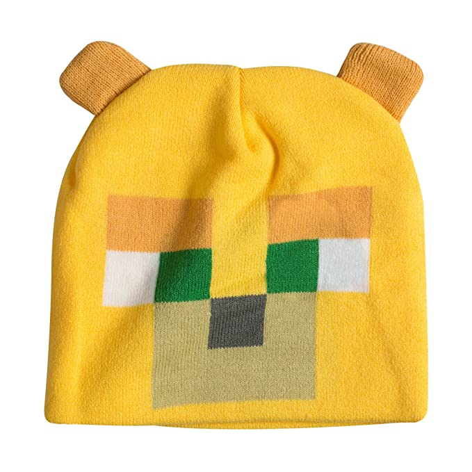 7d56a9bbe4c Image Unavailable. Image not available for. Color  JINX Minecraft Ocelot  Face Knit Beanie ...