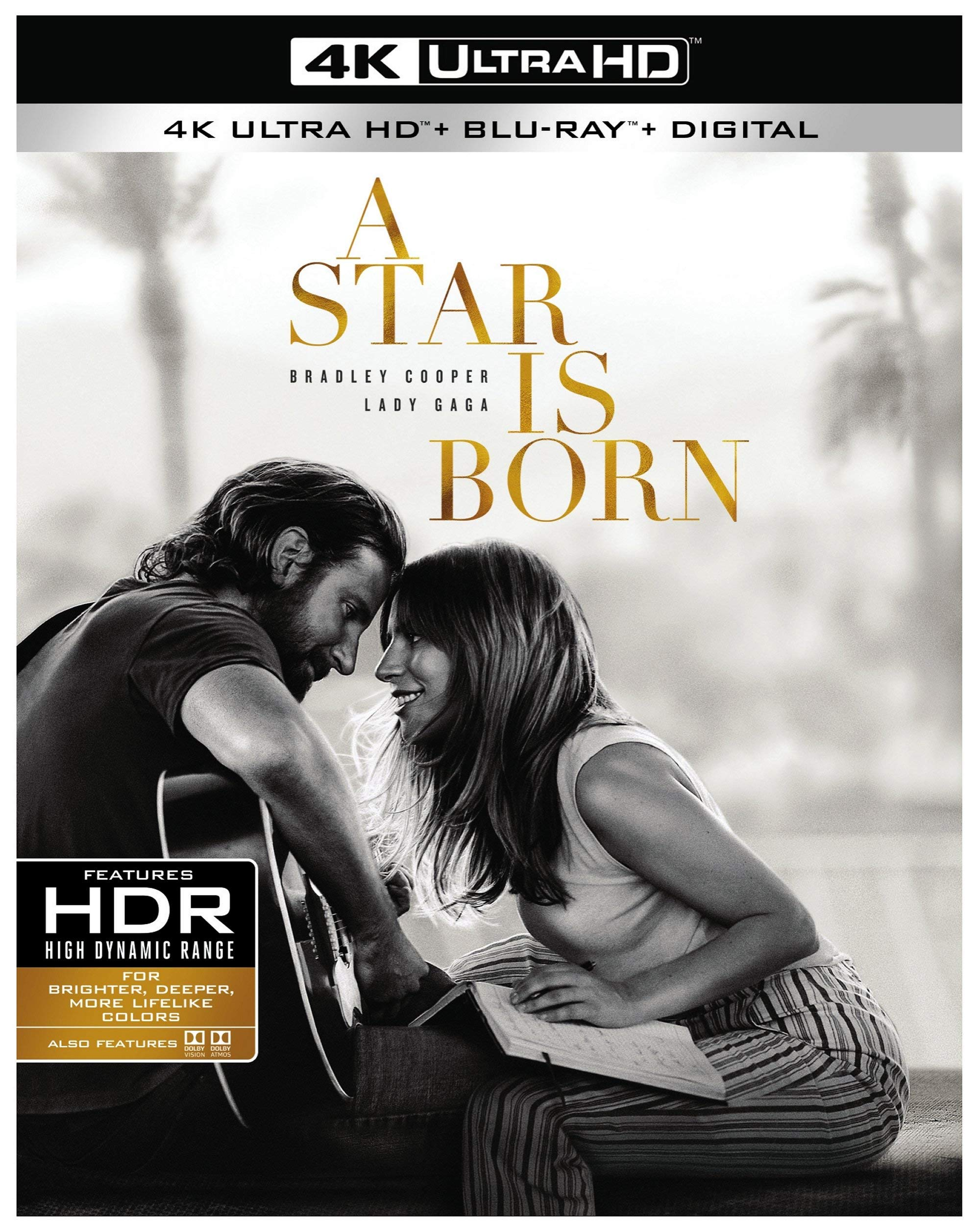 4K Blu-ray : A Star Is Born (2018) (With Blu-ray, Black, 4K Mastering, Dubbed, Subtitled)