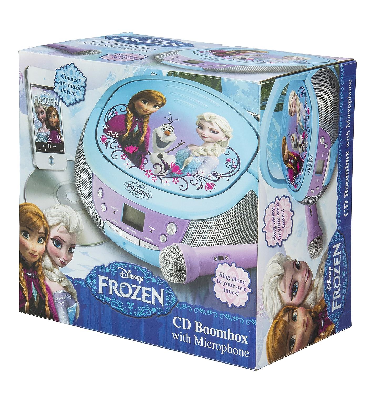 ekids FR de 430 Disney Frozen Reproductor de CD con micrófono para Niños Portátil Anna y Elsa Azul: Amazon.es: Electrónica