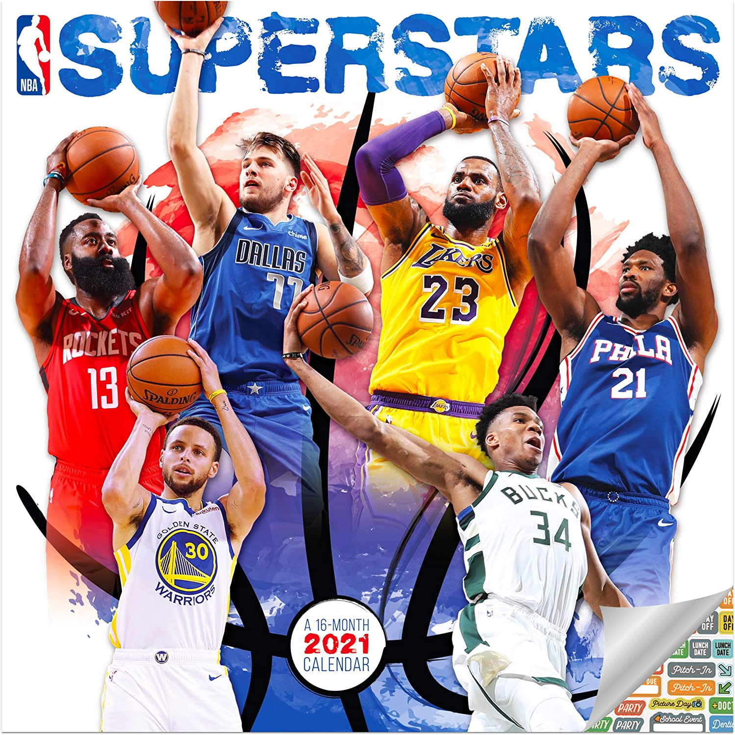 Amazon.: NBA Superstars Calendar 2021 Bundle   Deluxe 2021 NBA
