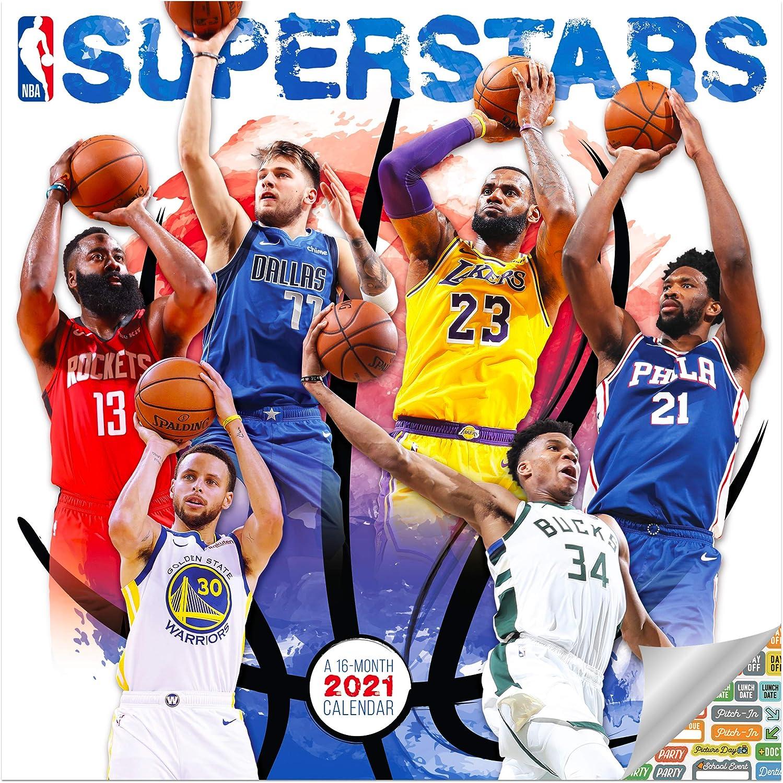Nba Calendar 2021 Amazon.: NBA Superstars Calendar 2021 Bundle   Deluxe 2021 NBA
