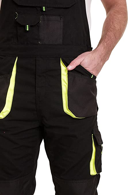 UK Mens Work Dungarees Bib Brace Overall Working Trousers Casual Pockets Pants