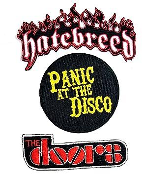 Música banda Set 3 pcs parche la puertas Hatebreed pánico en la ...