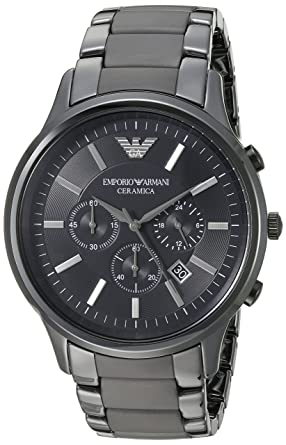 Amazon.com  Emporio Armani AR1451 Black Ceramica Mens Watch  Emporio ... 7d3441928e