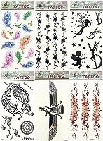 6 sheets temporary tattoo stickers boho gift idea