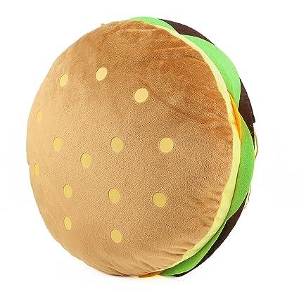 Amazon.com: Cheeseburger almohada esponjosa de peluche de ...