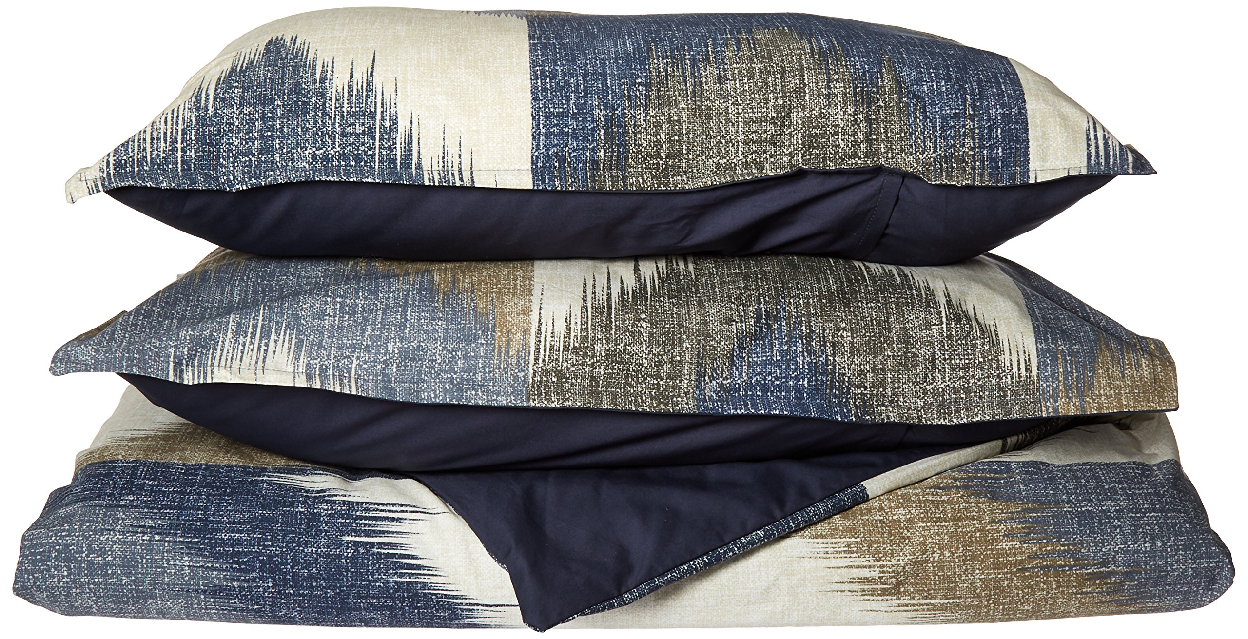 INK+IVY II12-555 Alpine 3 Piece Duvet Cover Mini Set, King/California King, Navy
