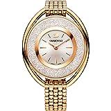 Swarovski Crystalline Oval Rose Gold Tone Bracelet Watch
