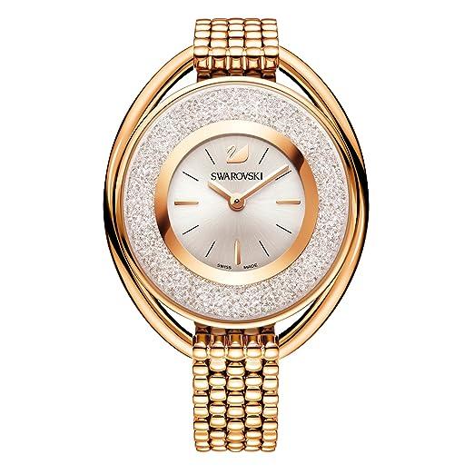 Swarovski Crystalline Oval Rose Gold Tone Bracelet Watch  Amazon.co.uk   Watches 548f078f9764