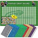 Amazon com : 2019 Fantasy Football Draft Board Kit - 10 Team
