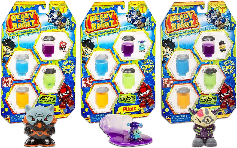 Ready2Robot Build Battle Make Slime Mystery Pack.. Lot Of 5 Swap