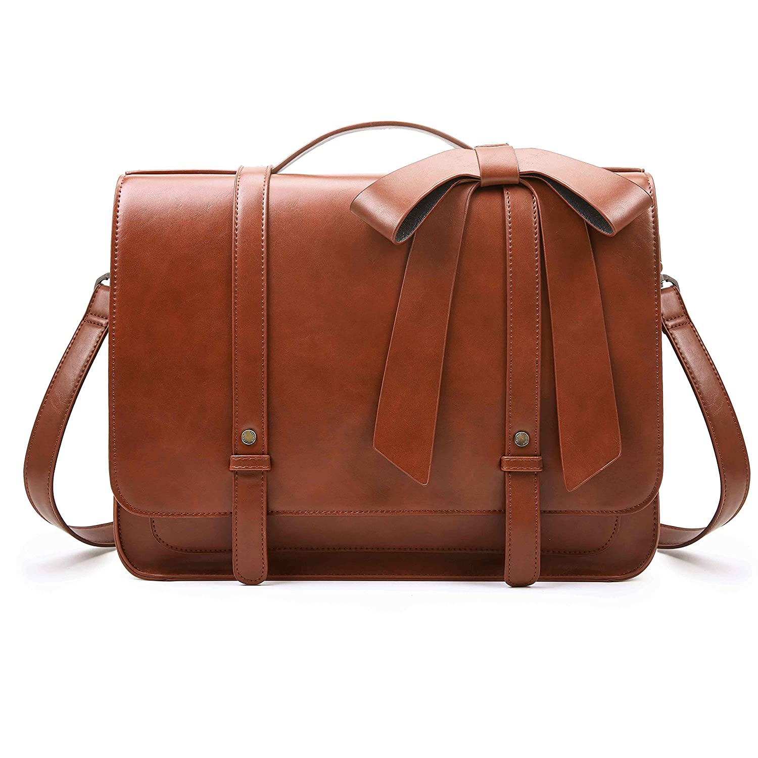 Amazon.com  ECOSUSI Women s Briefcase PU Leather 14 inch Laptop Backpack  Shoulder Satchel Computer Bag with Detachable Bow  Computers   Accessories 0513d4057