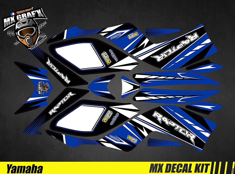 Kit Déco Quad para/ATV Calcomanías Kit para Yamaha Raptor - Blanco, Raptor 700 2006-2012