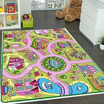 Children Play Mat City Harbour Theme Cheerful Multicoloured Soft Kids Carpet