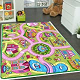"Kids Rug Fun Land Play Rug 5' X 7' Children Area Rug - Non Skid Gel Backing (59"" x 82"") Manufacturer's Suggested Retail Price $149.99"