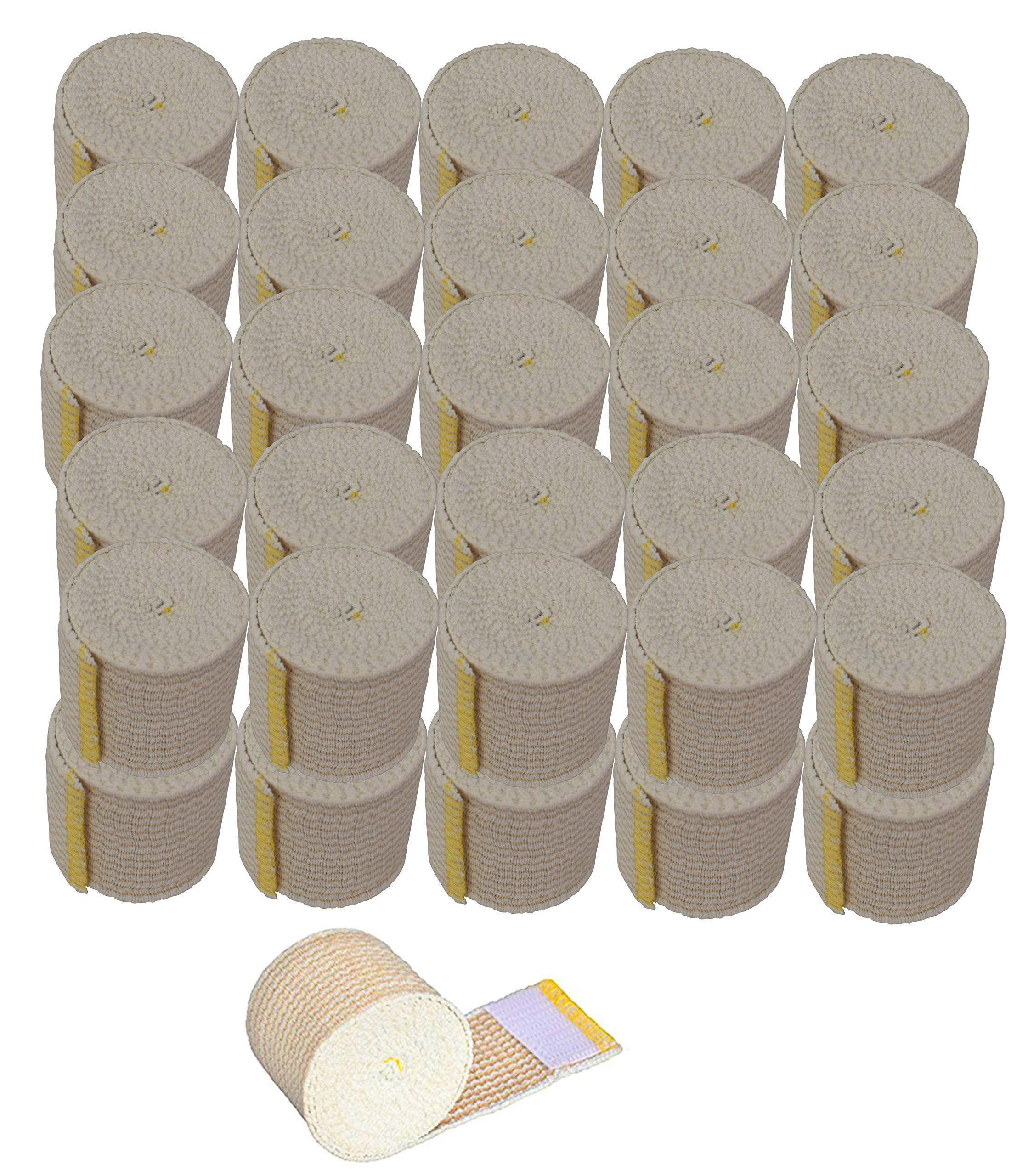 NexSkin Cotton Elastic Bandages w/Hook and Loop Closure, 2'' Width - 50 Bandages