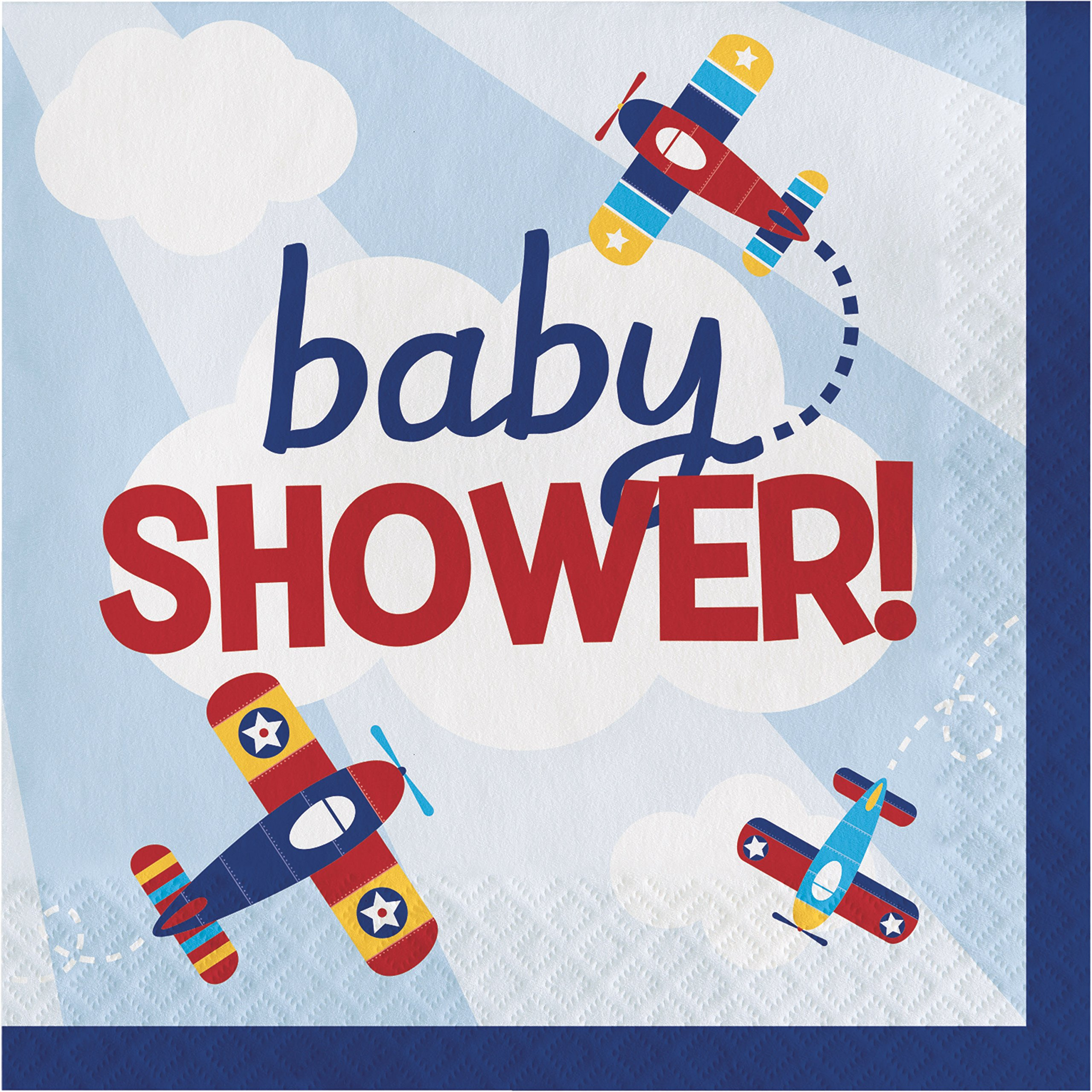 Toy Airplane Baby Shower Napkins, 48 ct by Creative Converting