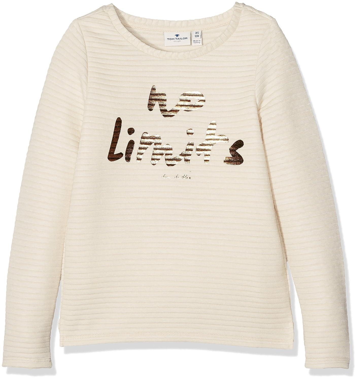 TOM TAILOR Mädchen Sweatshirt with Metallic Print 25304784040