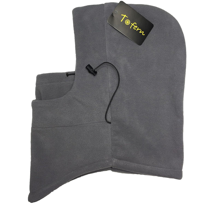 Thermo-Fleece Balaclava, Winter Kopftuch Gesichtsmaske, Fahrradfahren Maske, CS Hat Tactical Hood, 2 Farben CS Hat Tactical Hood - grau Aotu