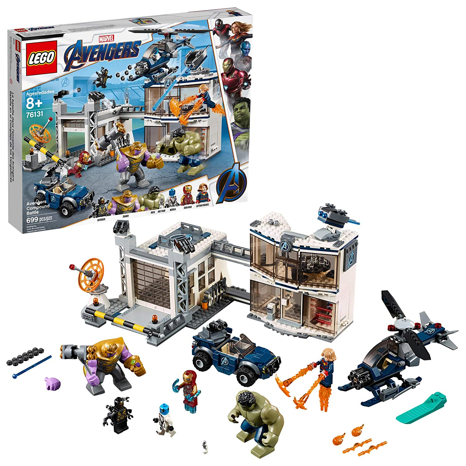 online store 9fad3 ce53d Amazon.com  LEGO Marvel Avengers Compound Battle 76131 Building Kit (699  Piece)  Toys   Games