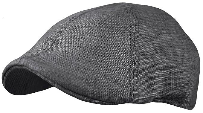 e56be3cdb940e Menu0027s Linen Blend Cotton Newsboy Cap Cool Duckbill Pub Hat Golf IVY Cap  ( Sc 1 St Amazon.com