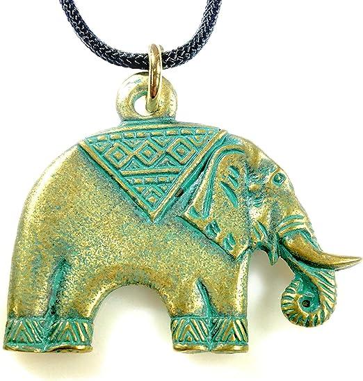 Turquoise Medallion Elephant Necklace