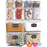 Chef's Path Airtight Food Storage Containers - 12 PC - Ideal for Flour, Sugar, Baking Supplies - Kitchen & Pantry Organizatio
