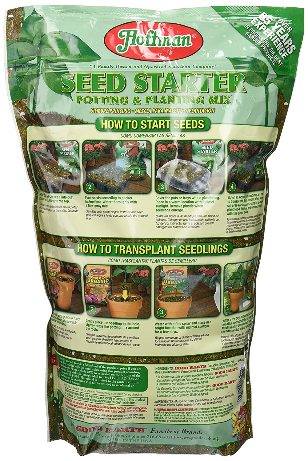 Amazon.com : Hoffman 30101 Seed Starter Soil, 4 Quarts : Soil And Soil Amendments : Garden & Outdoor