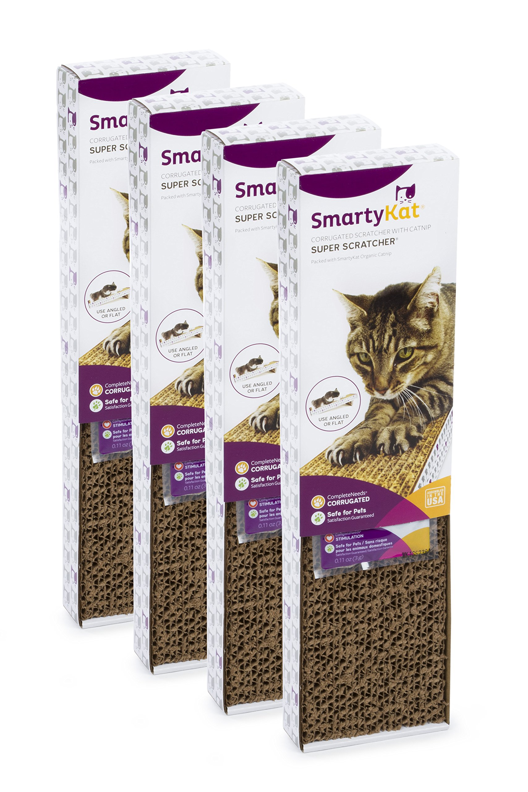 SmartyKat 4 Count Super Value Cat Scratcher (4 Pack)