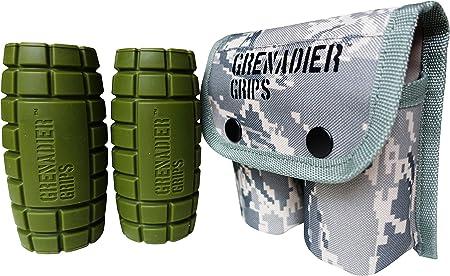 Granada Grips - Exclusivo Fat Bar/Pesas Grips para Enorme tamaño Gains, Potencia explosiva, Aumento de Fuerza de Agarre, Brazo Muscular Builder, ...