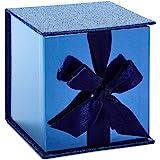 Hallmark Signature Small Gift Box with Fill (Navy Blue Glitter)