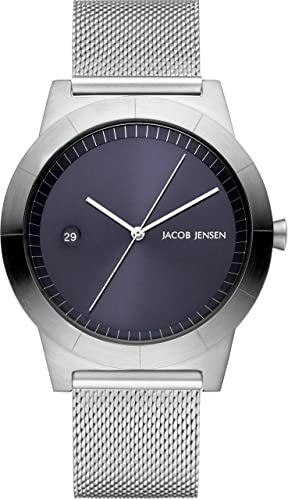 4d201a963 Jacob Jensen Mens Analogue Classic Quartz Watch with Stainless Steel Strap  JJ143  Amazon.co.uk  Watches